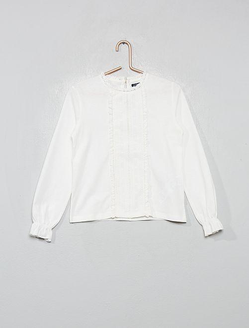 Camiseta bordada                                                                             blanco nieve