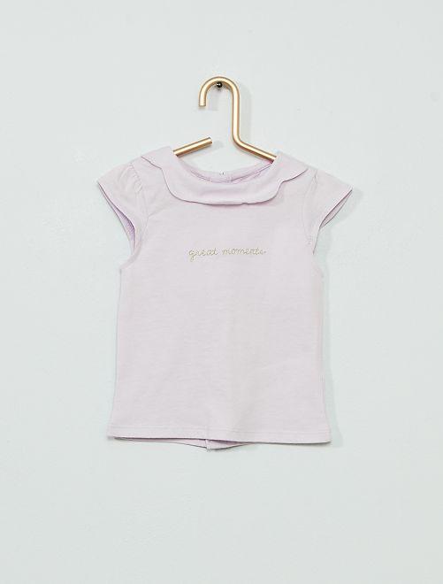 Camiseta bordada 'eco-concepción'                                                     PURPURA