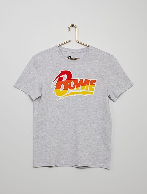 Camiseta 'Bowie'                             gris chiné
