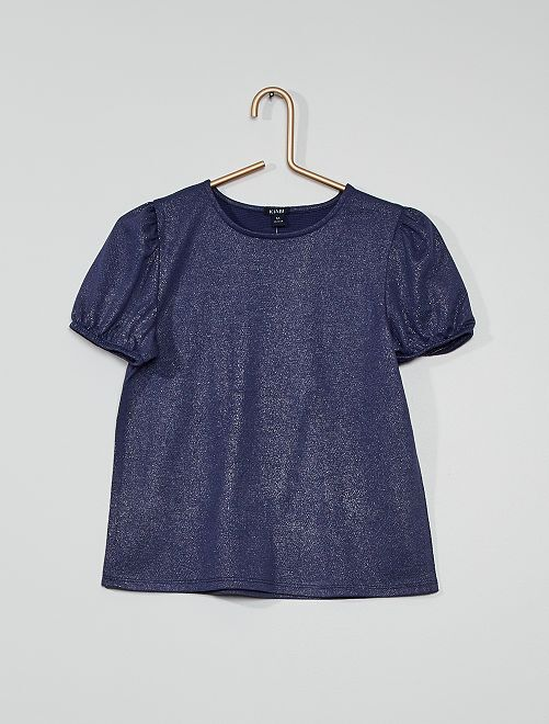 Camiseta brillante                                         azul cobalto