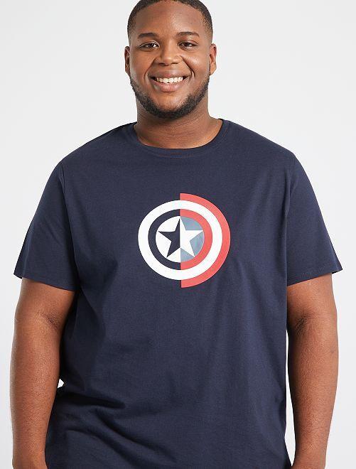Camiseta 'Capitán América'                                                                 AZUL