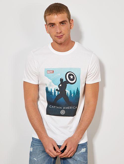 Camiseta 'Capitán América'                                         BLANCO