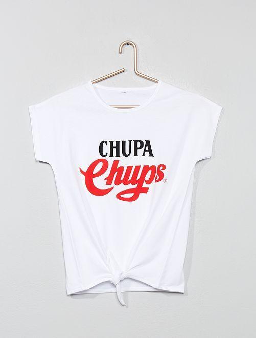 Camiseta 'Chupa Chups' con lazo                             blanco