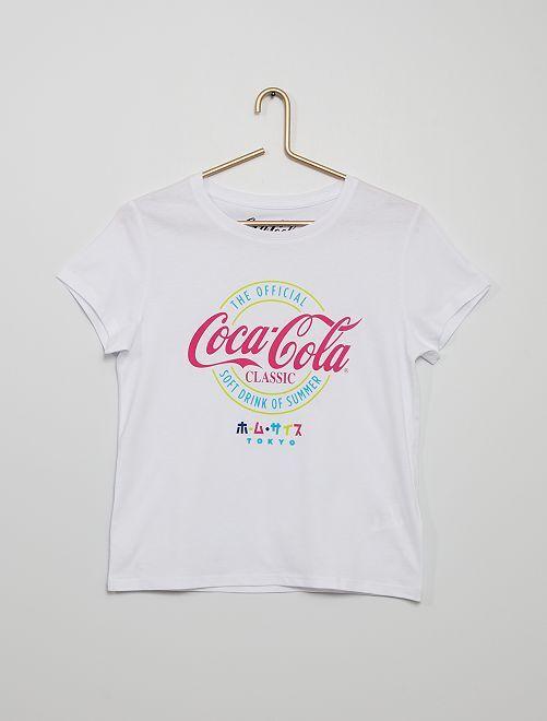 Camiseta 'Coca Cola'                             blanco