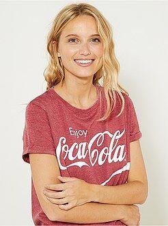 Camiseta estampadas - Camiseta 'Coca Cola' - Kiabi
