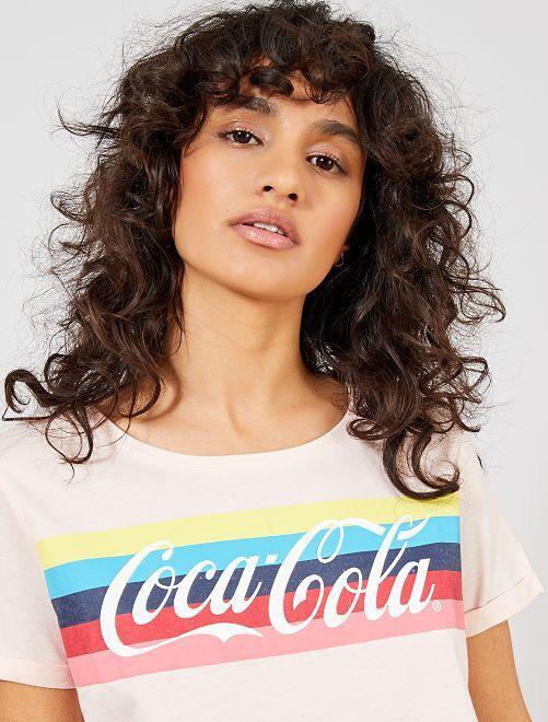 Camiseta 'Coca-Cola'                             ROSA Mujer talla 34 a 48