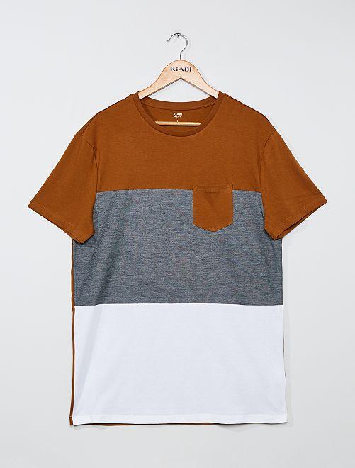 Camiseta colorblock +1,90 m                             BLANCO