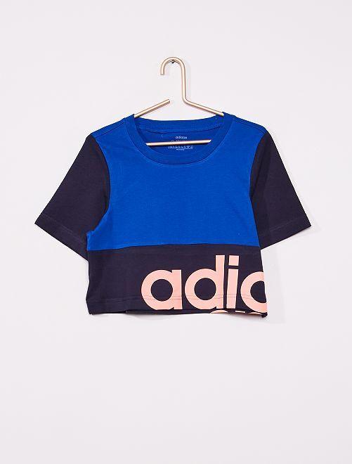 Camiseta colorblock 'Adidas'                             AZUL