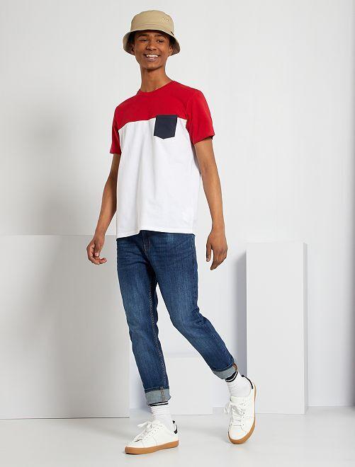 Camiseta colorblock                                                                 AZUL