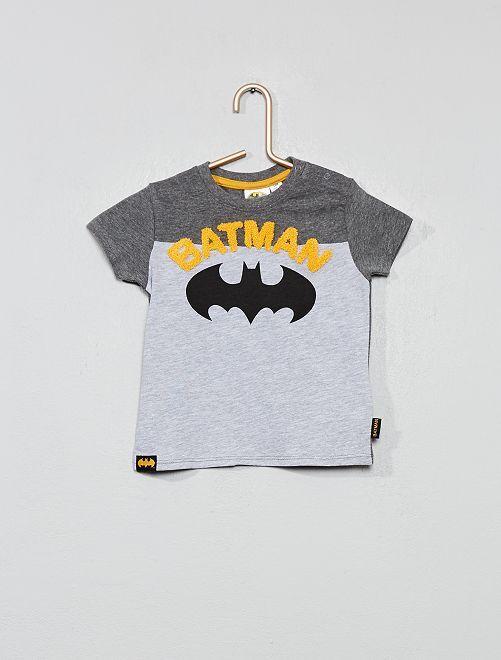 Camiseta colorblock 'Batman'                             gris Bebé niño