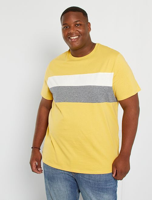 Camiseta colorblock eco-concepción                                         amarillo anaranjado