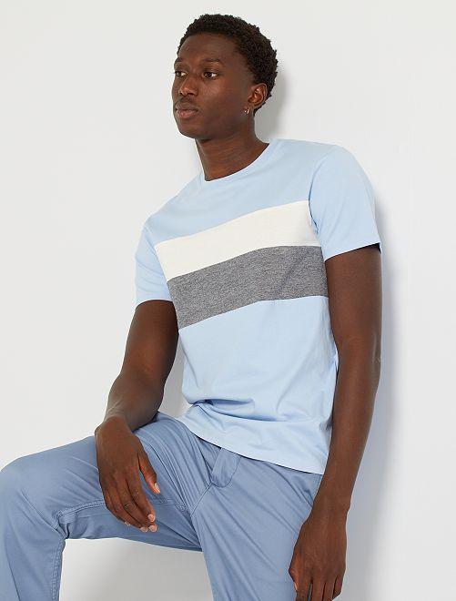 Camiseta colorblock eco-concepción                                                                                                                 AZUL
