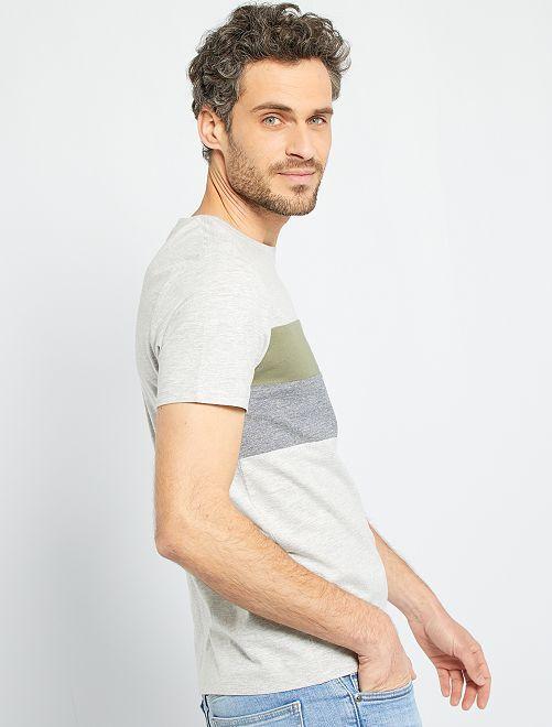 Camiseta colorblock eco-concepción                                                                     GRIS