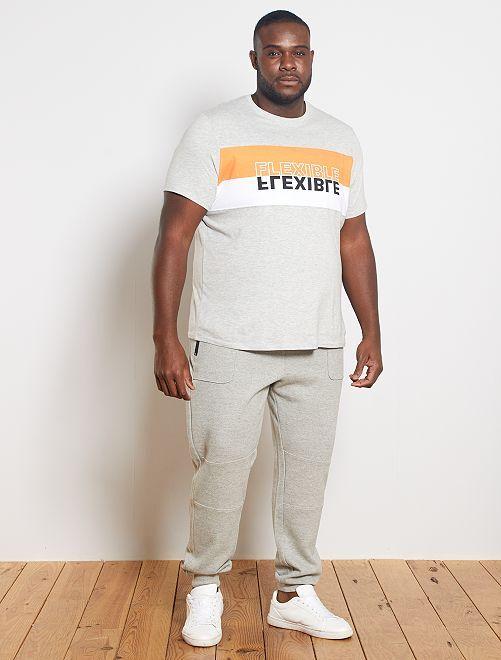 Camiseta colorblock 'eco-concepción'                             NEGRO