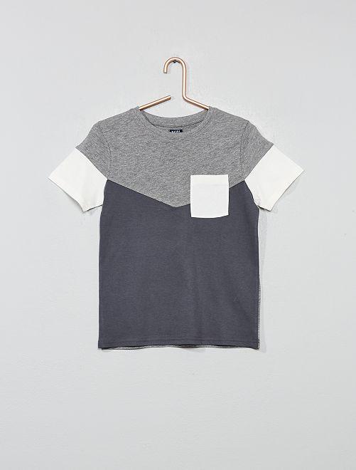 Camiseta colorblock                                                                             gris