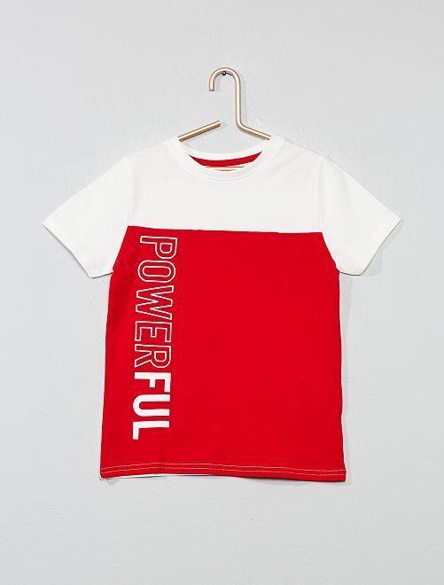 Camiseta 'colorblock'                                                                 ROJO Chico