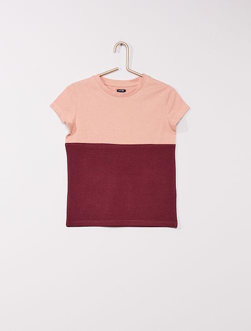 Camiseta colorblock                                                     rosa/ciruela