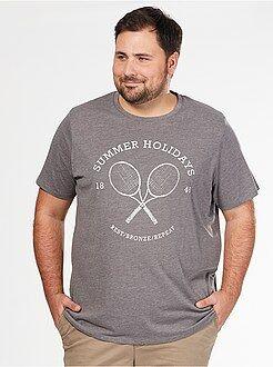 Camisetas talla 5xl - Camiseta cómoda de punto con estampado deportivo