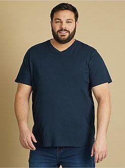 Camiseta cómoda de punto lisa - Kiabi
