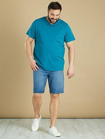 Tallas grandes hombre - Camiseta cómoda de punto lisa - Kiabi