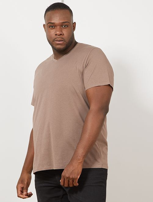 Camiseta cómoda de punto lisa                                                                                                                                                                 marrón