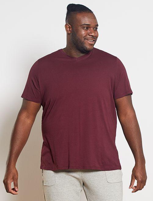 Camiseta cómoda de punto lisa                                                                                                                                                                             rojo