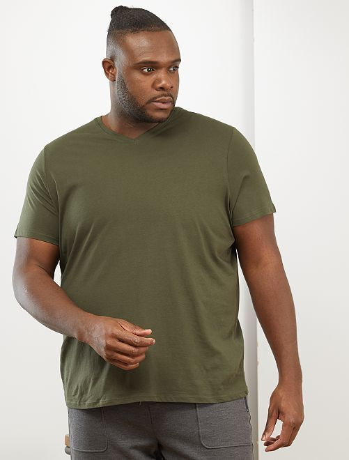 Camiseta cómoda de punto lisa                                                                                                                                                                 verde selva