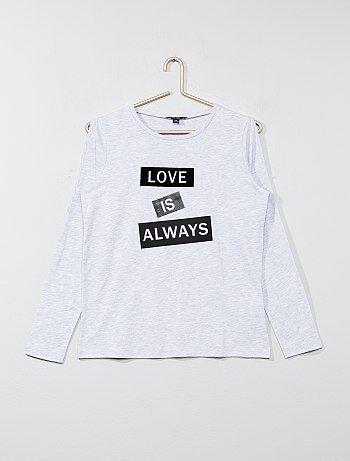 Niña 10-18 años - Camiseta con abertura en los hombros - Kiabi