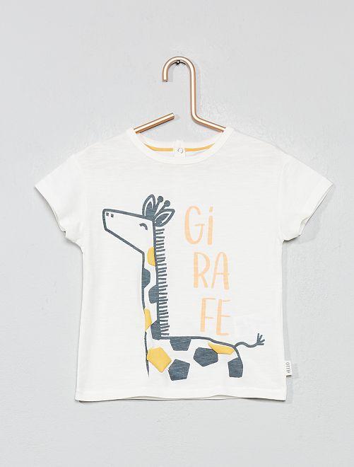 Camiseta con adorno de 'jirafa'                                         BLANCO Bebé niño