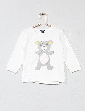 Camiseta con adorno de oso - Kiabi