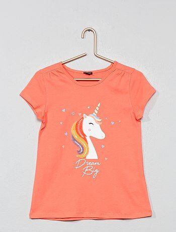 b1f7417f3 Camiseta con adorno de terciopelo - Kiabi