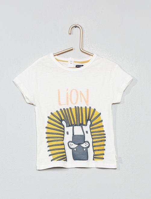 Camiseta con adorno 'león'                                         BLANCO Bebé niño