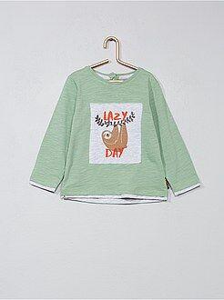 Niño 0-36 meses - Camiseta con aplique 'perezoso' - Kiabi