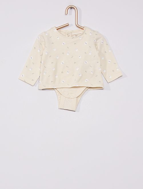 Camiseta con body eco-concepción                                         GRIS
