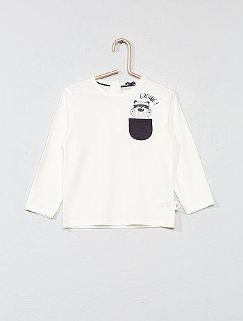 Camiseta con bolsillo con detalle en el pecho - Kiabi
