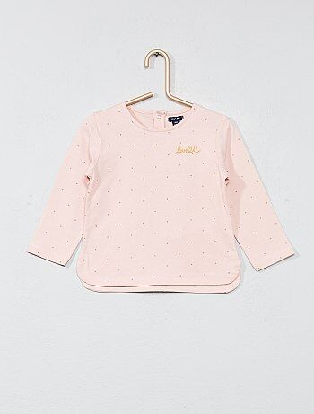Camiseta con bordado en el pecho - Kiabi