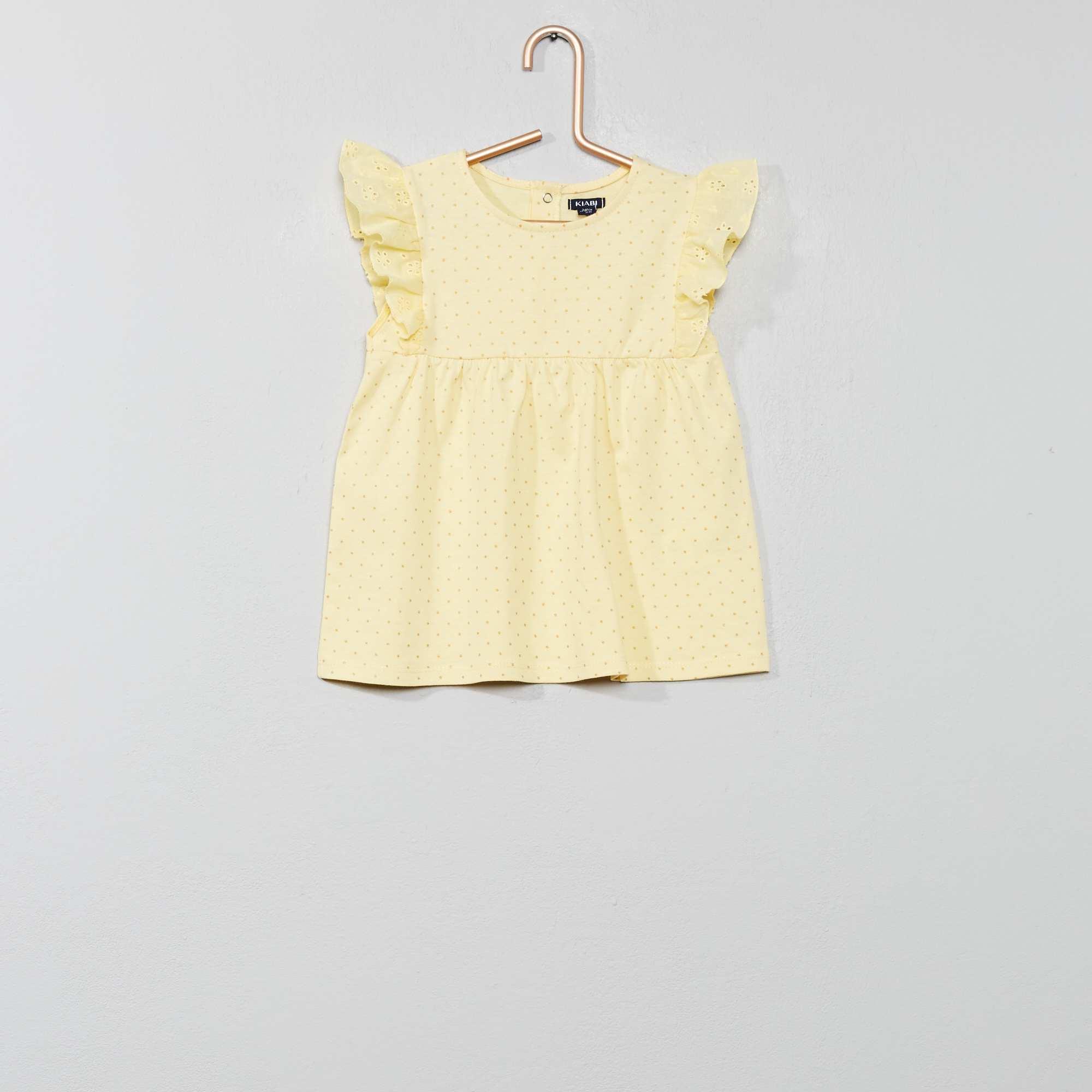 da93b8e0b Camiseta con bordado inglés Bebé niña - AMARILLO - Kiabi - 4