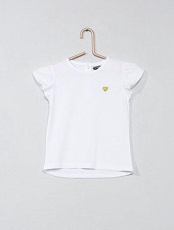 Camiseta con corazón brillante - Kiabi