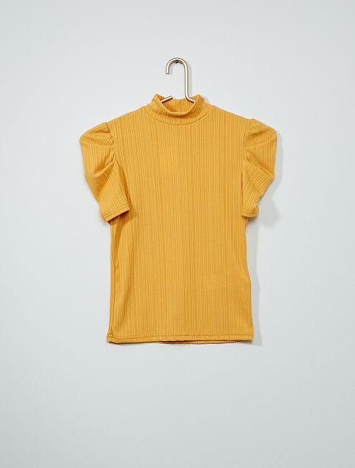 Camiseta con cuello alto                                         AMARILLO