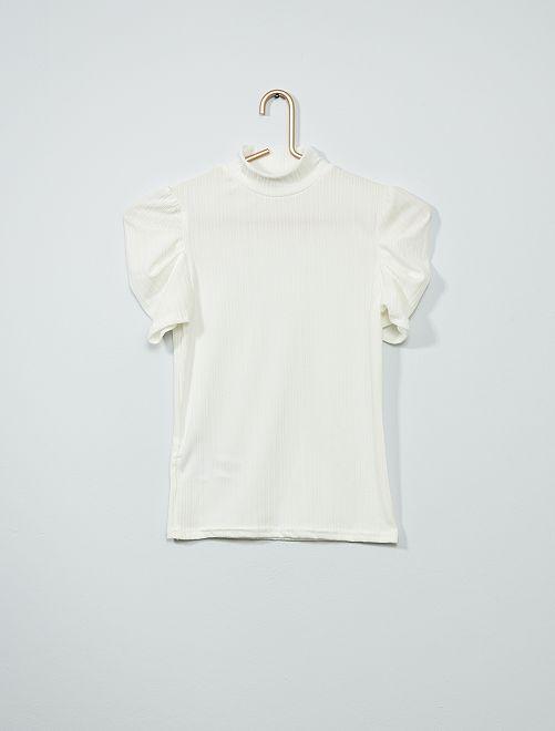 Camiseta con cuello alto                             blanco nieve