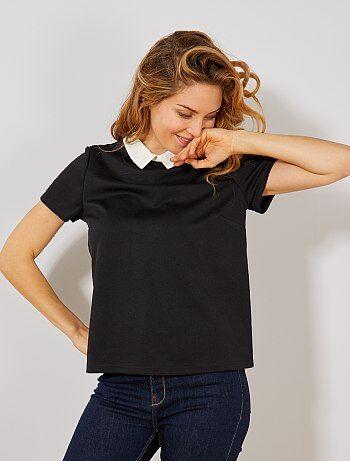 3df851a335286 Camiseta con cuello bebé - Kiabi