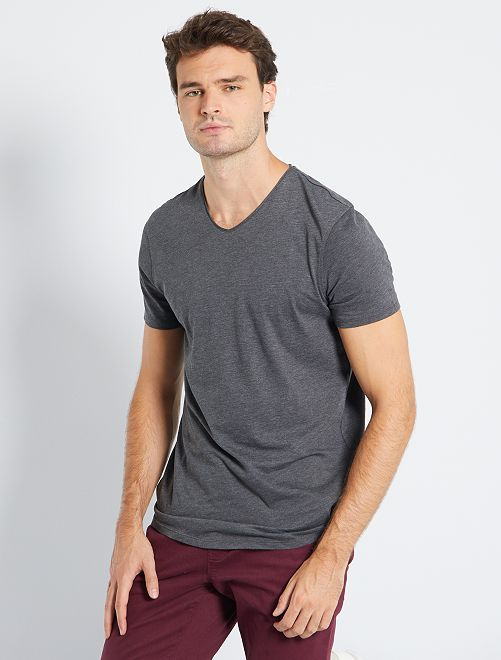 Camiseta con cuello de pico +1,90 m                                                     GRIS