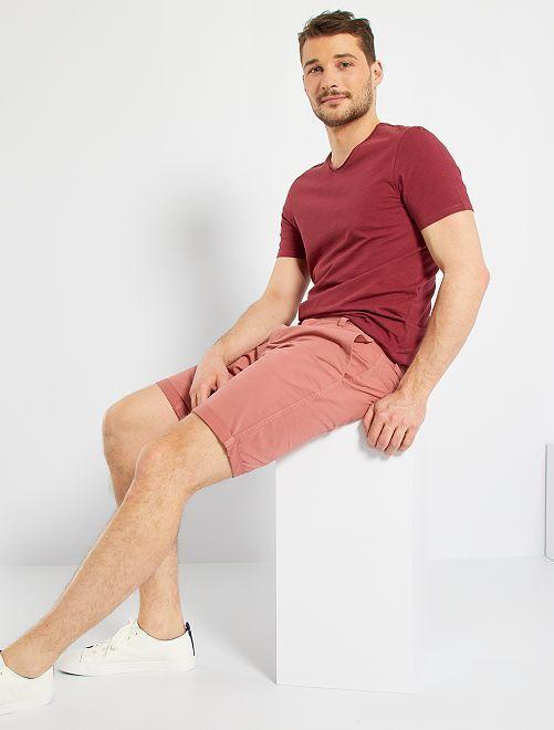 Camiseta con cuello de pico +1,90 m                                                                             rojo