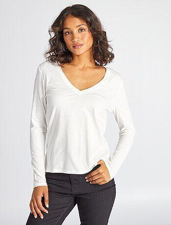 b91dfa6d93ad Rebajas selección de camisetas de manga larga para Mujer | Kiabi