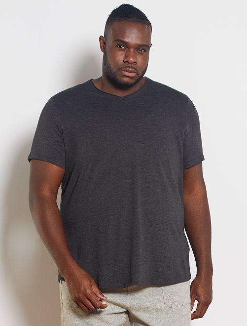Camiseta con cuello de pico eco-concepción                                                                 GRIS