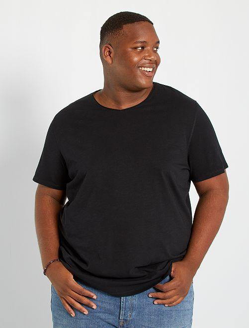 Camiseta con cuello de pico eco-concepción                                                                             negro