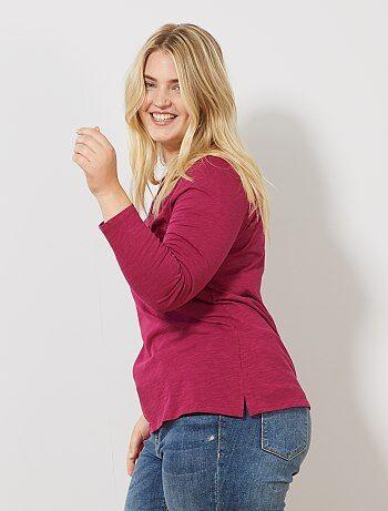 c7f2ce78e Rebajas camisetas Tallas grandes mujer | Kiabi