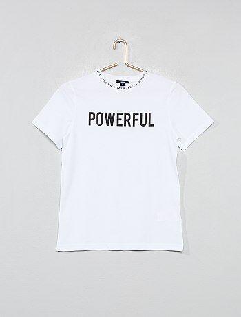 8c4a6fafa Niño 10-18 años - Camiseta con cuello estampado - Kiabi