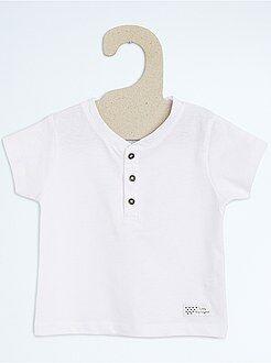 Niño 0-36 meses Camiseta con cuello panadero