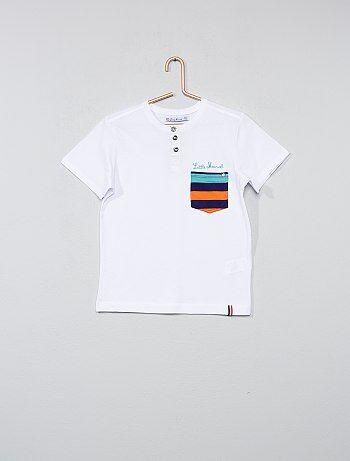 Niño 3-12 años - Camiseta con cuello panadero - Kiabi